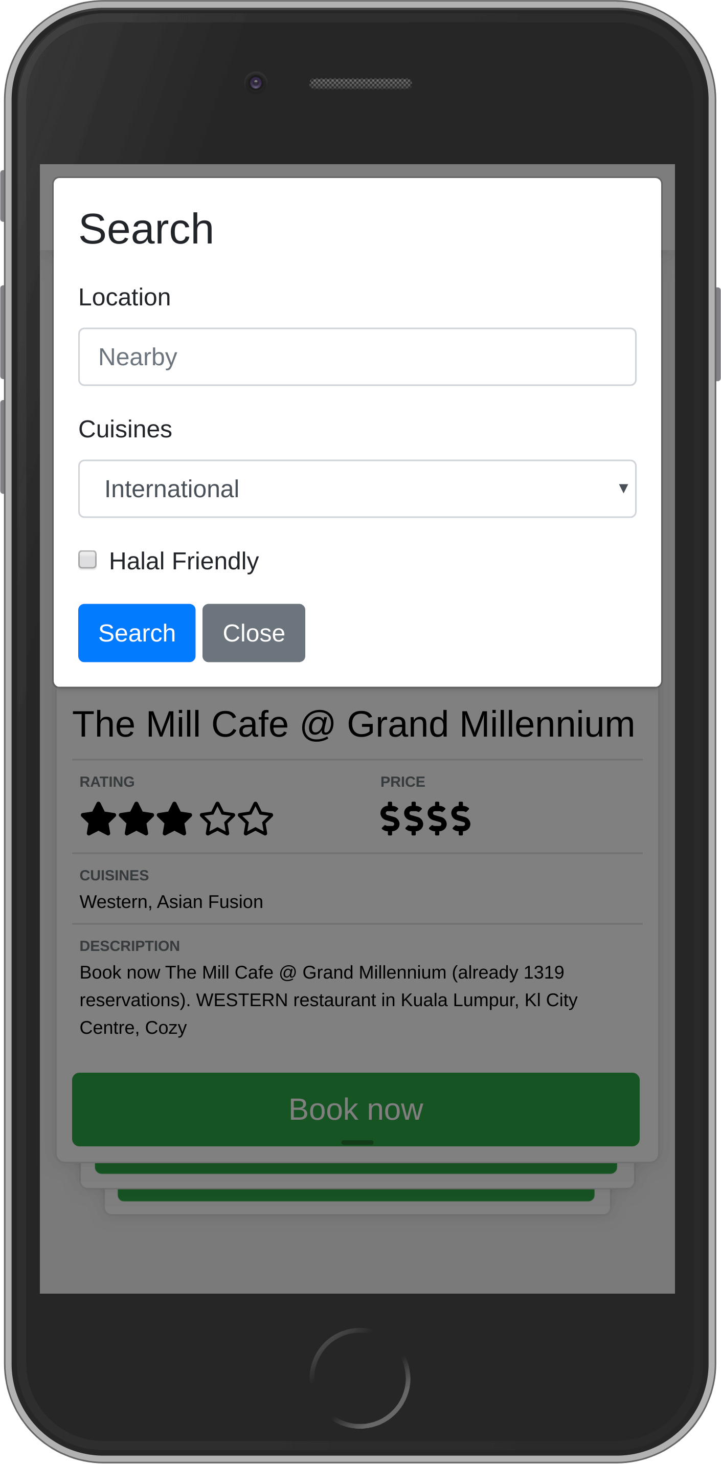 Tinder for restaurants on ognjen.io